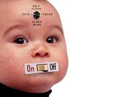 Vtipné obrázky - Dítě na vypínač