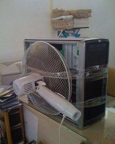 Vtipné obrázky - Opravdu vyřešené chlazení
