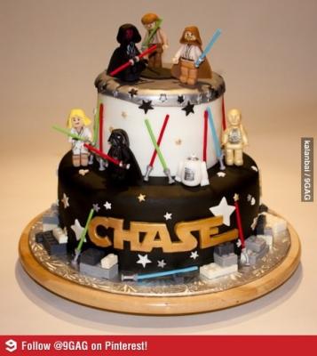 Vtipné obrázky - Dort pro fanoušky Star Wars