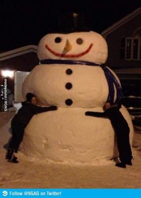 Vtipné obrázky - Mini sněhuláček