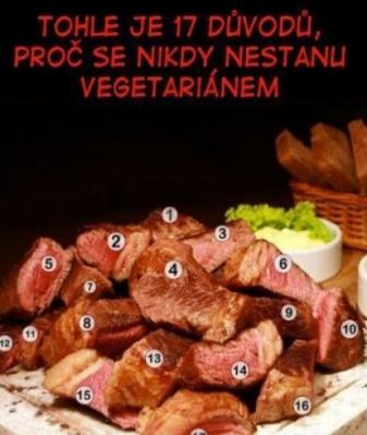 17 důvodů proč nebýt vegetarián | Vtipné obrázky - obrázky.vysmátej.cz