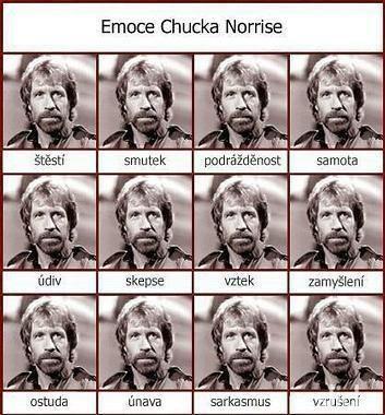 Vtipné obrázky - Emoce Chucka Norrise