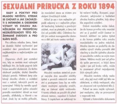 Vtipné obrázky - Sexuální příručka z roku 1894